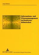 Informations  und Wissensmanagement im Konferenzdolmetschen