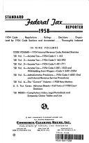 Standard Federal Tax Reporter 1958