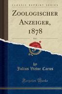 Zoologischer Anzeiger, 1878, Vol. 1 (Classic Reprint)