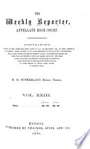 The Weekly Reporter  Appellate High Court Book PDF