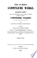 Franz Von Baader s S  mmtliche Werke