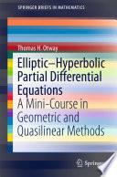 Elliptic   Hyperbolic Partial Differential Equations