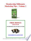 Membership Millionaire eCourse Vol 1