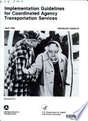Book Implementation Guidelines for Coordinated Agency Transportation Services