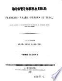 Dictionnaire francais arabe turc enrichi d exemples en langue turque avec des variantes  etc