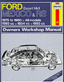 Ford Escort Mexico and RS Owners Workshop Manual