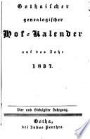 Gothaischer genealogischer Hof-Kalender