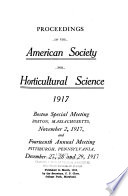 Proceedings of the American Society for Horticultural Science