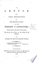 A Letter to the Executor of the Deceased Author of The Pursuits of Literature