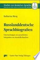 Russlanddeutsche Sprachbiografien