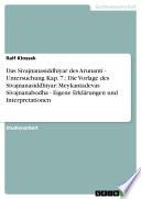 Das Sivajnanasiddhiyar des Arunanti - Untersuchung Kap. 7.: Die Vorlage des Sivajnanasiddhiyar: Meykantadevas Sivajnanabodha - Eigene Erklärungen und Interpretationen