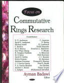 Focus on Commutative Rings Research