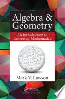Algebra   Geometry