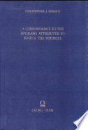 A Concordance to the Epigrams Attributed to Seneca the Younger