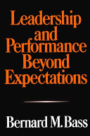Leadership and Performance Beyond Expectations