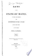 Laws Of The State Of Maine