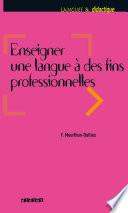 Enseigner une langue    des fins professionnelles   Ebook