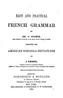 Book Easy and Practical French Grammar by C. Ploetz