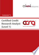 Certified Credit Research Analyst  CCRA  Level 1