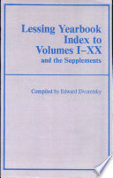 Lessing Yearbook Index to Volumes I XX and the Supplements