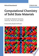 Computational Chemistry Of Solid State Materials book