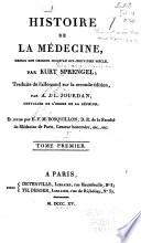 illustration Histoire de la médecine, depuis son origine jusqu'au dix-neuvième siècle