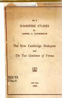 The New Cambridge Shakespeare and The Two Gentlemen of Verona