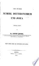 Die B  cher Numeri  Deuteronomium  und Josua