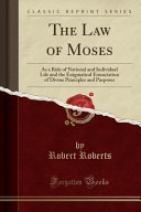 download ebook the law of moses pdf epub