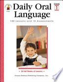 Daily Oral Language  Grade 1
