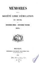 Mémoires de la Société Libre d'Emulation du Doubs