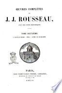 Oeuvres compl  tes de J  J  Rousseau