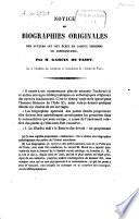 Notice des biographies originales des auteurs qui ont écrit en langue indienne ou hindoustani