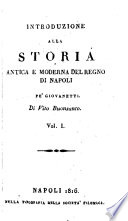 Introduzione alla storia antica e moderna del regno di Napoli