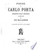 Poesie di Carlo Porta