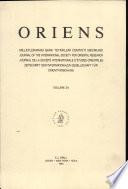 Oriens , Volume 34 Volume 34