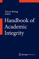 Handbook Of Academic Integrity book