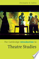 The Cambridge Introduction to Theatre Studies