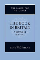 The Cambridge History Of The Book In Britain : use of books as great as that in...