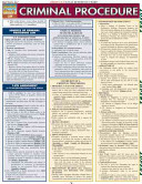 Criminal Procedure Laminated Reference Guide