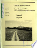 Gallatin National Forest N F Travel Management Plan book