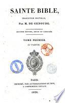 Sainte Bible, traduction nouvelle, par M. de Genoude