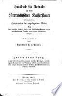 Handbuch für Reisende in dem österreichischen Kaiserstaate