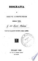 Biografia  o  breve compendio della vita di 365 illustri italiani nati in ciascun giorno dell anno