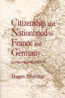 download ebook citizenship and nationhood in france and germany pdf epub