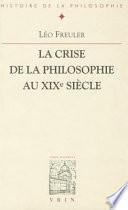 illustration La crise de la philosophie au XIXe siècle