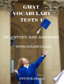 Self Study and Answers of Gmat Vocabulary Tests 1
