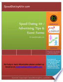 Speed Dating 101 Advertising Tips Event Forms
