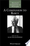 A Companion to Rorty