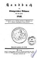 Handbuch des Königreiches Böhmen für das Jahr 1846